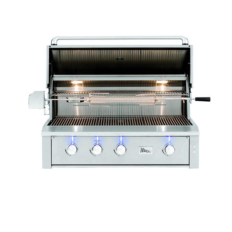 42-Inch Built-In Natural Gas Grill with Standard and Infrared Burners